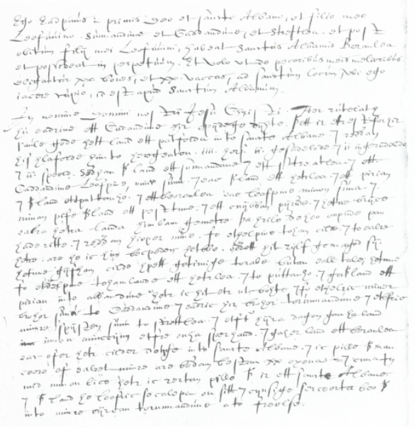 Lost cartulary St. Albans manuscript